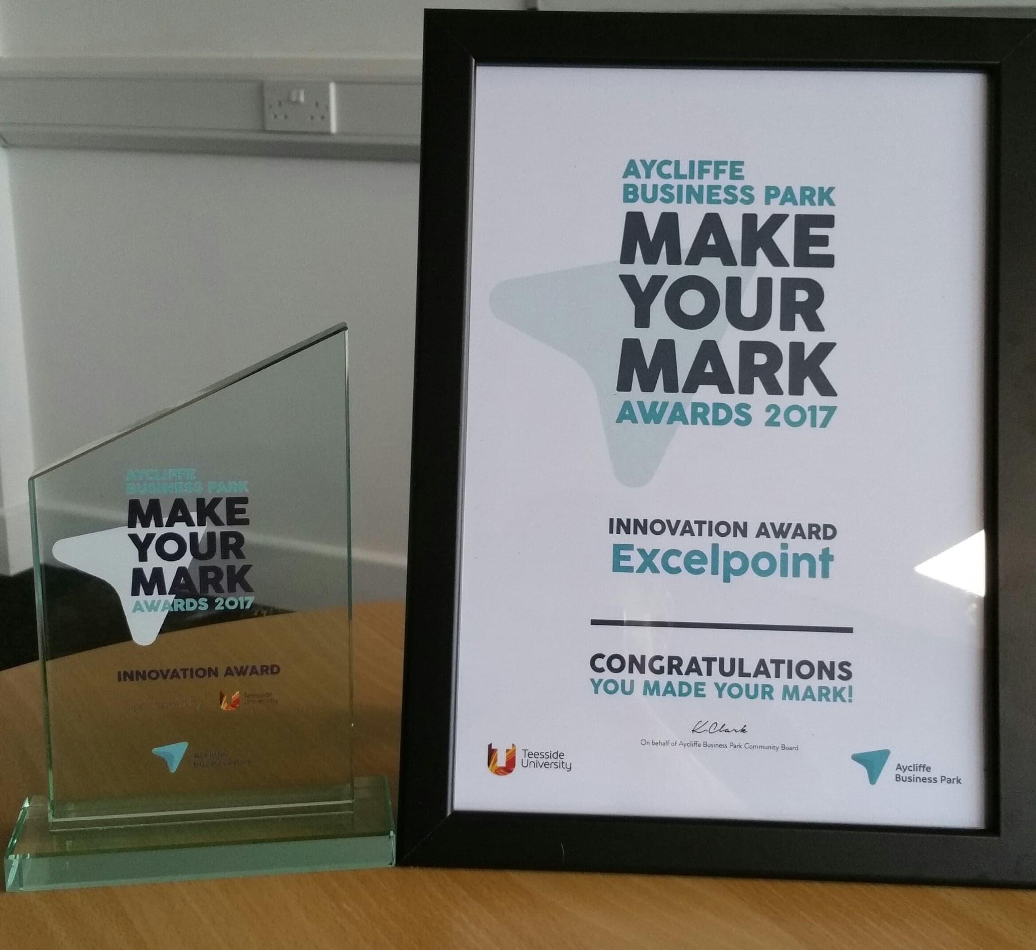 Excelpoint Innovation Certificate and Award